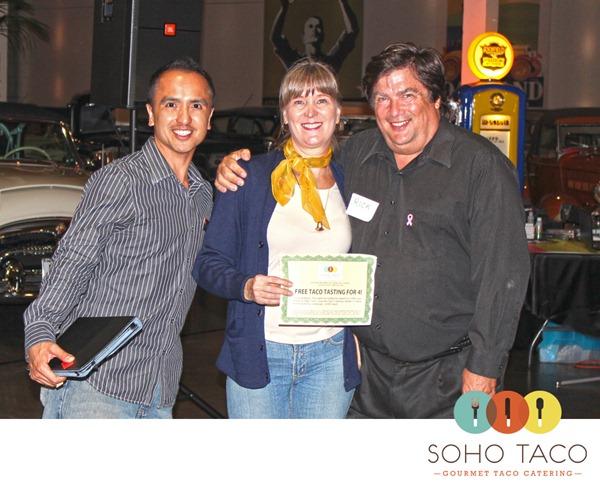Soho Taco Gourmet Taco Cart Catering OC Brides Costa Mesa Orange County Raffle Winner Rick