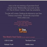 SoHo Taco Gourmet Taco Truck - Food Truck - OC Fair & Events Center - Costa Mesa - Orange County CA - Flyer