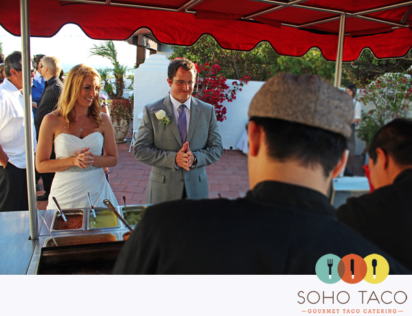 SoHo Taco Gourmet Taco Cart Catering - Wedding - Historic Cottage - San Clemente - Orange County CA