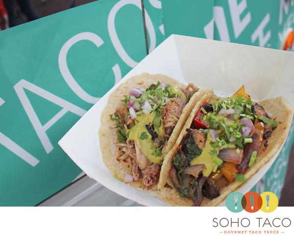 SoHo Taco Gourmet Taco Truck - OC Fair & Event Center - Costa Mesa - Orange County - Carnitas & Veggie Tacos