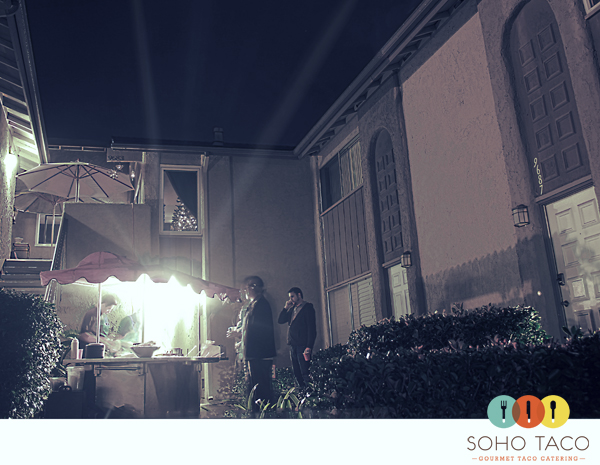 Gourmet taco cart catering last night for OC Weekly's holidy party in Huntington Beach.