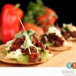 SOHO TACO Gourmet Taco Catering - Orange County - OC - Tostaditas de Chorizo