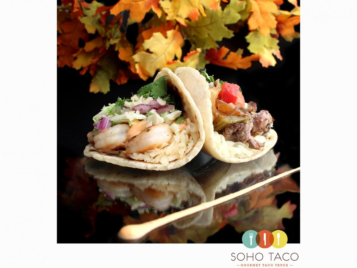 SOHO TACO Gourmet Taco Truck - Camarones & Rib Eye Steak