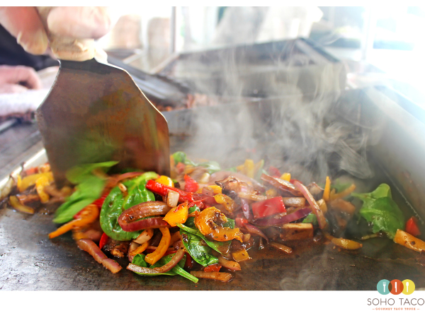 SOHO TACO Gourmet Taco Catering & Food Truck - Veggies On The Grill
