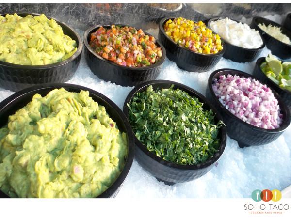 SOHO TACO Gourmet Taco Catering - Salsa Condiment Bar - La Chureya Estate - Palm Springs CA