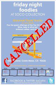Soho Taco Gourmet Taco Truck - SoCo Collection - Costa Mesa - Orange County - Canceled Stop