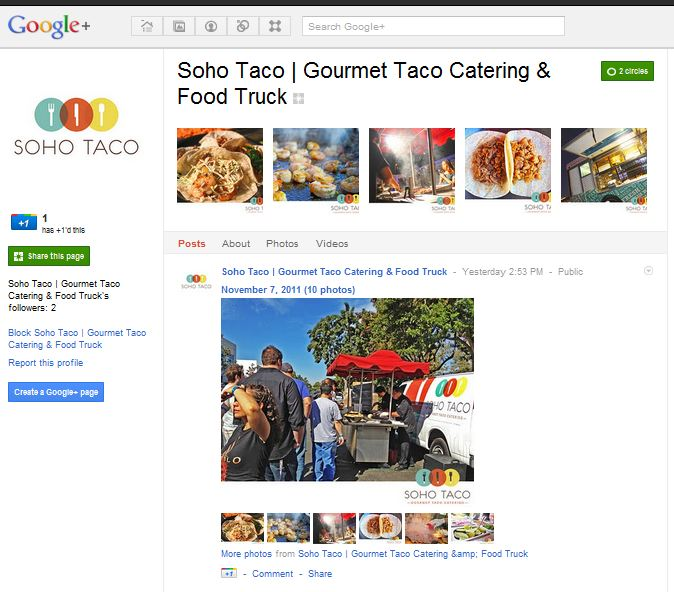 Soho Taco Gourmet Taco Cart Catering & Food Truck - Google Plus Page