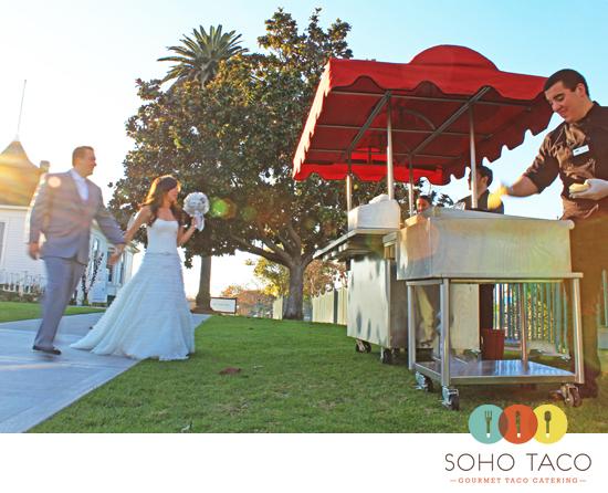 Soho Taco Gourmet Cart Catering Wedding Newland Barn Huntington Beach Orange County Ca