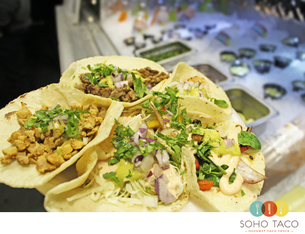 SoHo Taco Gourmet Taco Truck - Northwoods Apartments - Irvine - Orange County CA - Plate of Tacos