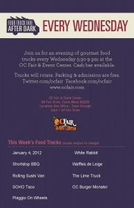 SoHo Taco Gourmet Taco Truck - OC Fairgrounds - Costa Mesa - Orange County - CA- flyer