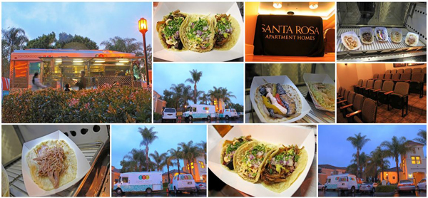 SoHo Taco Gourmet Taco Catering & Food Truck - Santa Rosa Apartment Homes - Irvine - Orange County - CA - February 15 2012