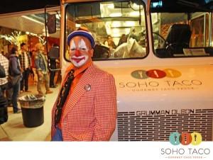 SoHo Taco Gourmet Taco Truck - OCCCA - Santa Ana Art Walk - Clowning Around
