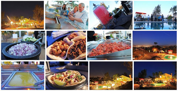 Taco Catering A Casual But Scenic Wedding Reception In Riverside