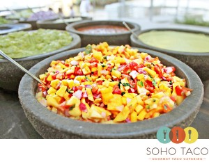 SoHo Taco Gourmet Taco Catering Orange County 5 Star Yelp Review Mango Salsa - logo