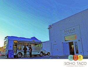 SoHo Taco Gourmet Taco Truck - Noble Ale Works - Anaheim - Orange County CA - March 2012 - Logo