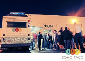 SoHo Taco Gourmet Taco Truck - Noble Ale Works - Anaheim - Orange County CA - Logo