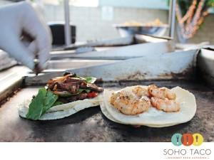 SoHo Taco Gourmet Taco Catering & Food Truck - Los Angeles CA - Veggie & Shrimp Tacos