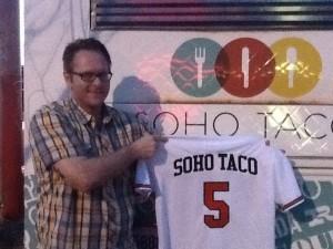 SoHo Taco Gourmet Taco Truck - Best Buy - Fullerton - Orange County CA - Danna - Baseball Jersey