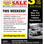SoHo Taco Gourmet Taco Truck - Crevier BMW - Santa Ana - Penske Garage Sale - Orange County - Flyer