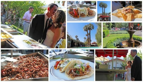 Taco Catering A Palm Springs Wedding Reception At The