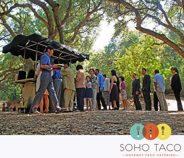 Taco Cart Catering A Wedding Reception At The Oak Canyon Nature