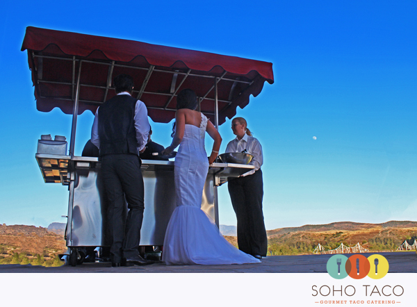 SoHo Taco Gourmet Taco Cart Catering - Wedding - Silverado Mansion - Orange County