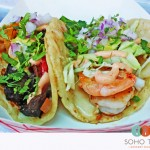 SoHo Taco Gourmet Taco Truck - Much Ado About Fooding - Blog - Veggie Taco & Shrimp Taco