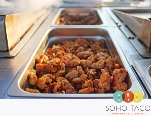 SoHo Taco Gourmet Taco Truck - Roger's Gardens - Corona Del Mar - Newport Beach - Orange County CA - Chicken Tacos - Pollo Asado