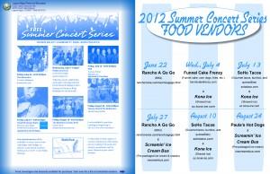 Soho Taco Gourmet Taco Truck - Laguna Niguel Summer Concert Series Flyer 2012 - Laguna Niguel - Orange County - CA