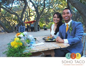 SoHo Taco Gourmet Taco Catering - Wedding Reception - Oak Canyon Nature Center - Anaheim Hills - Orange County CA