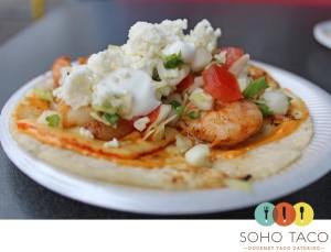 SoHo Taco Gourmet Taco Cart Catering & Food Truck - National Taco Day - Prototype Seafood Taco