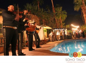 SoHo Taco Gourmet Taco Catering - Wedding Rehearsal The Grand Tennis Estate - Palm Springs - CA