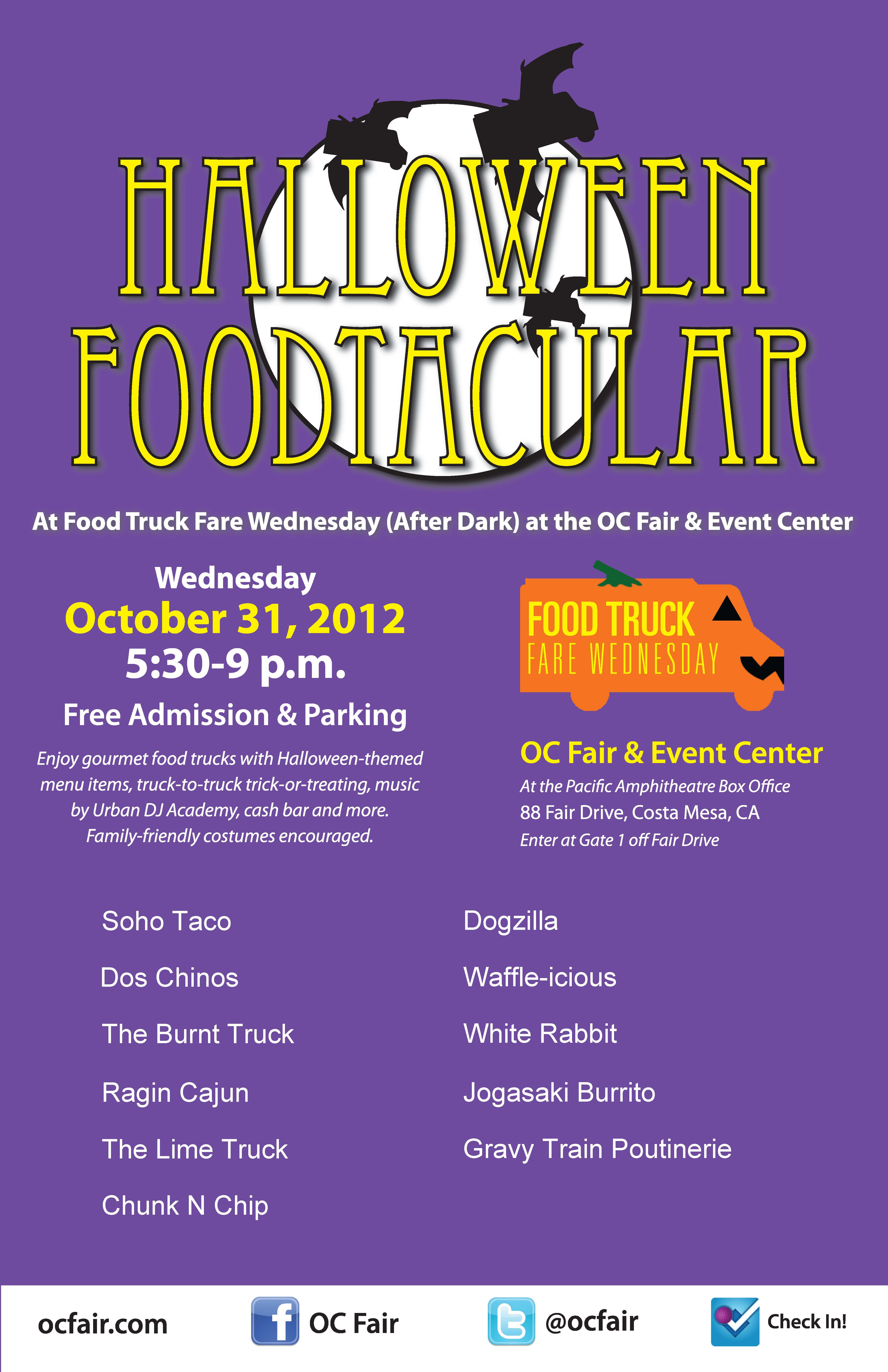 tonight 5 30p in costa misery halloween foodtacular at oc fair