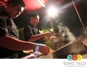 Charlie & Danny taco catering for OC Weekly's Christmas party last Thursday night in Huntington Beach CA