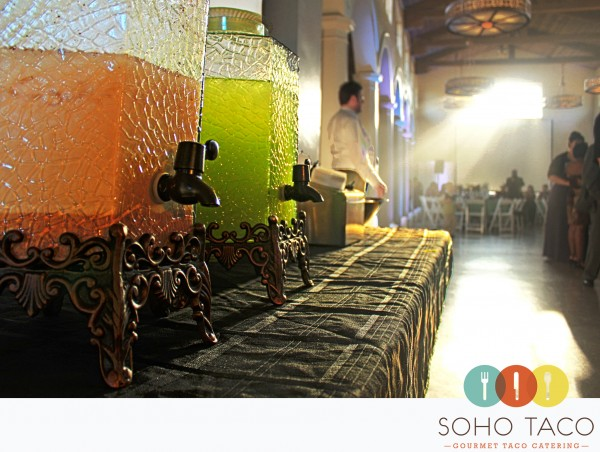 SoHo Taco Gourmet Taco Catering - Orange County - Los Angeles - Aguas Frescas