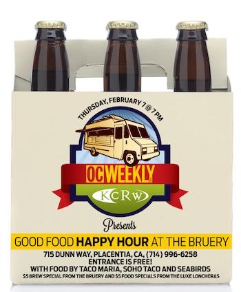SoHo Taco Gourmet Taco Truck - OC Weekly - KCRW - Happy Hour - The Bruery - Placentia - Orange County CA