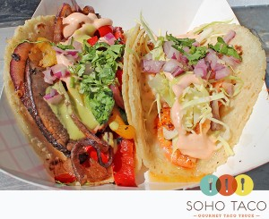 SoHo Taco Gourmet Taco Truck - Orange County - CA - Veggie & Shrimp Taco