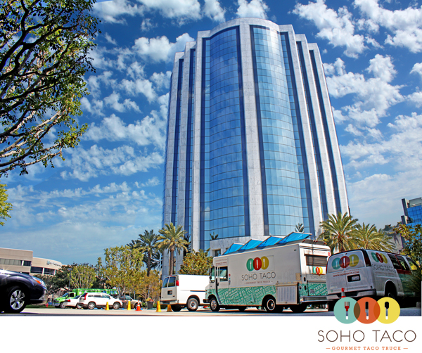 SoHo Taco Gourmet Taco Truck - Von Karman - Airport Tower - Irvine - Orange County - Lunch