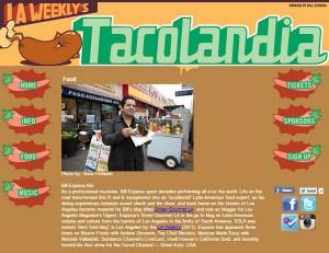 SoHo Taco Gourmet Taco Catering & Food Truck - Tacolandia - LA Weekly - Bill Esparza - Official Banner - Main