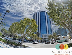SoHo Taco Gourmet Taco Truck - Vonkarman Airport Tower - Irvine - Orange County CA