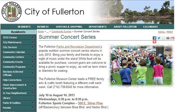 SoHo Taco Gourmet Taco Truck - Summer Concert Series - Fullerton Sports Complex - Fullerton CA