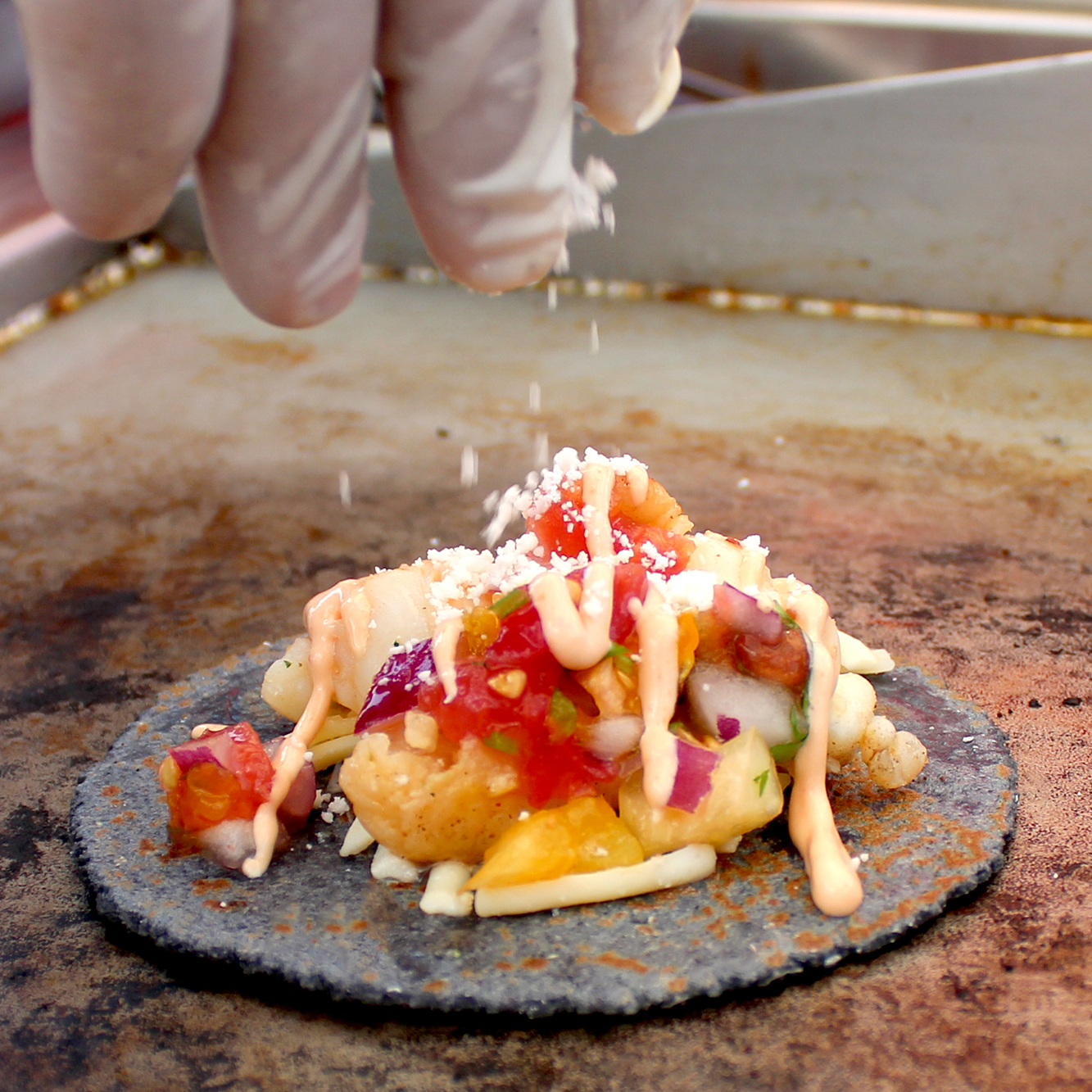 SoHo Taco Gourmet Taco Truck - Lobster Taco Blue Corn Tortilla - Orange County CA