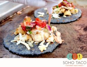 SoHo Taco Gourmet Taco Truck - Lobster Taco - Fresh Hand Pressed Handmade Blue Corn Tortilla - Orange County