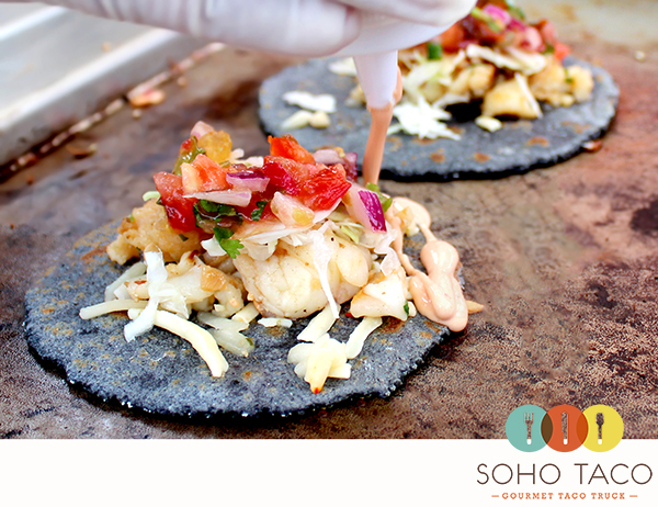 SoHo Taco Gourmet Taco Truck - Lobster Taco - Fresh Hand Pressed Handmade Blue Corn Tortilla - Orange County