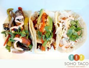 SoHo Taco Gourmet Taco Truck - Veggie Chilorio Camarones - Tacos - OC - Orange County CA - main