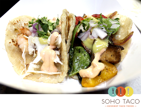 SoHo Taco Gourmet Taco Truck - Shrimp & Veggie Tacos - Orange County - OC