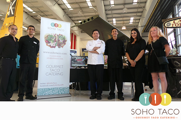 SOHO TACO Gourmet Taco Catering - Lyon Air Museum - OC Food & Wine Festival - group shot
