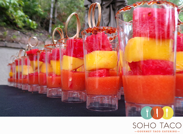 SOHO TACO Gourmet Taco Catering - Dove Canyon - Rancho Santa Margarita - Orange County - OC - Espadillas de Fruta