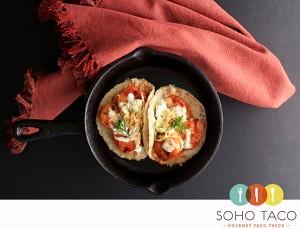SOHO TACO Gourmet Taco Truck - Camarones Glaseados Al Chipotle - Chipotle Glazed Shrimp