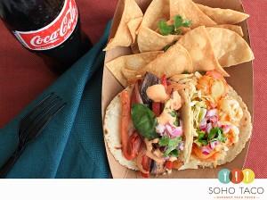 SOHO TACO Gourmet Taco Truck - Veggie & Shrimp Combo - Irvine - Orange County CA